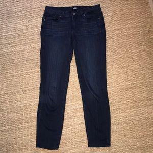 Paige Verdugo Crop Jeans, Dark wash